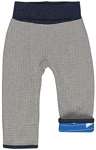 loud + proud Jungen Wendehose Strick Aus Bio Baumwolle, GOTS Zertifiziert Hose, Grau (Grey Gr), 92 (Herstellergröße: 86/92)