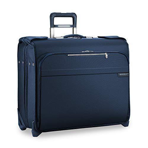 Briggs & Riley Baseline-Softside Carry-On Deluxe 2-Wheel Garment Bag, Navy