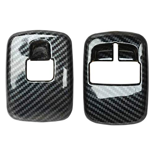HUAER 2 PCS Carbon Carbon Fiber Window Levantador Interruptor de Interruptor de la Cubierta Pegatina de Ajuste Ajuste para Benz Smart 453 FORTWO FORFOUR 2015+ Accesorios