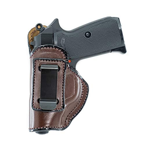 Maxx Carry IWB Leather Gun Holster for Ruger LCP, LCP II .380 ACP   Concealed Carry   Fits S&W Bodyguard 380   Colt Mustang   Kimber Micro 380   Sig Sauer P238, Brown, Left Hand Draw