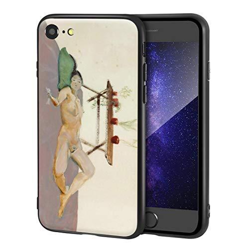 Berkin Arts Yasuo Kuniyoshi Custodia per iPhone SE(2020)/iPhone 7/8/per Cellulare Arti/Stampa giclée a UV sulla Cover del Telefono(Corpo Umano disteso)
