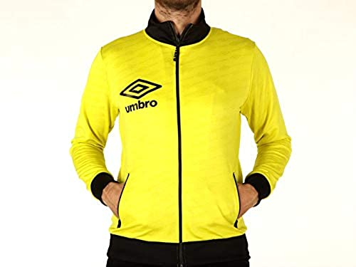Umbro, Homme, Full Zip en Triacétate, Polyester, Sweat-Shirt, Jaune