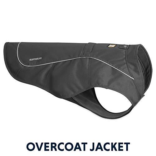 Ruffwear Widerstandsfähige Hunde-Jacke mit Fleece-Innenfutter, Mittelgroße Hunderassen, Größe: M, Grau (Twilight Grey), Overcoat