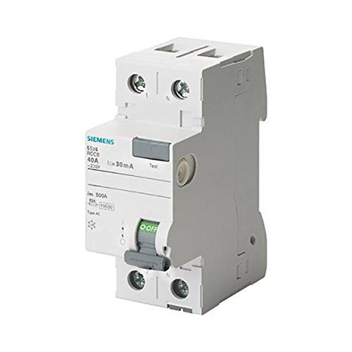 Siemens 5sv - Interruptor diferencial clase-ac 2 polos 63a 300ma 70mm