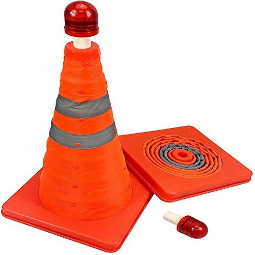 GBY Warnkegel Zwei zusammenlegbare Leitkegel 70 cm Pop-up-Warnung Kegel orange parken Kegel Sicherheit Autobahn Verkehrskegel