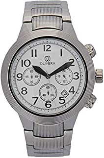 Watch by Olivera For Men, Quartz, Stainless steel - OG797