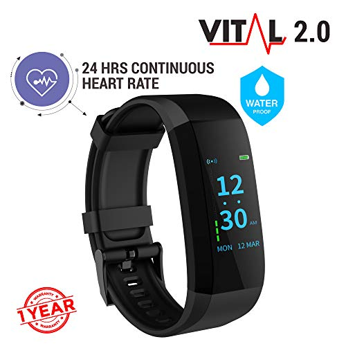 GOQii VITAL 2.0 Activity Tracker with BP Monitor & 3 months Personal...