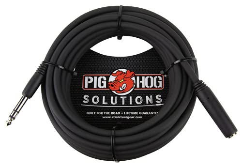 Pig Hog PHX14-25 1/4' TRSF to 1/4' TRSM Headphone Extension Cable, 25...