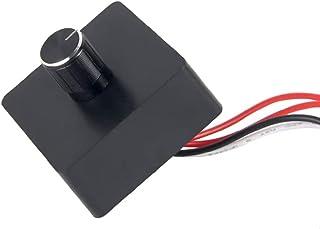 12 Volt DC PWM Dimmer Switch for LED RV Lights Interior, DC 12-24 Volts Rotary Dimmer for LED Lights Halogen Incandescent ...