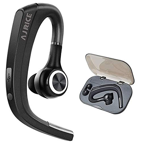 Bluetooth Earpiece Wireless Headset with Microphone Hands-Free Earphones Headphones Noise Canceling Earbud Long Standby Time for Smart Mobile Phone Tablet PC Laptop Business Office Car Driver Trucker