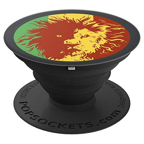 Reggae Lion Jamaica Rasta Weed Smoker Marijuana Stoner Gif - PopSockets Ausziehbarer Sockel und Griff für Smartphones und Tablets