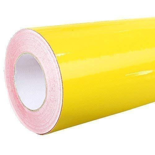 4,43€/m² Rapid Teck® Glanz Folie - Klebefolie - 5m x 63cm - Plotterfolie- Folie selbstklebend - auch als Moebelfolie - Klebefolie (Gelb Glanz)