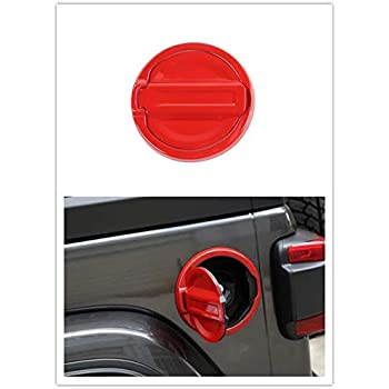 Highitem Black Fuel Filler Door Cover Gas Tank Cap 4-Door 2-Door for Jeep Wrangler JL 2018 Up