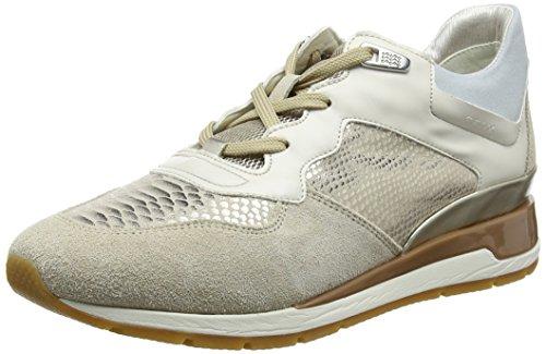 Geox Damen D Shahira B Sneaker, Beige (Lt Taupe/Lt Gold), 39 EU