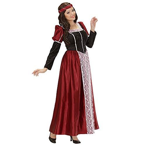 Widmann 35482 – Erwachsenenkostüm Burgfräulein, Kleid mit Kopfbedeckung und Schleier - 2