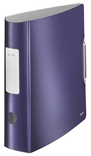 LEITZ 11080069 - Archivador de palanca polyfoam 180º lomo curvado cierre con goma Active Style DIN A4 75 mm. color azul titán