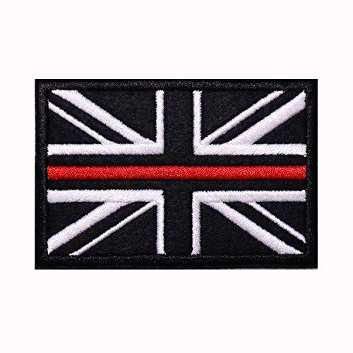 Parche de bandera de Gran Reino Unido, diseño de bandera de Reino Unido, color blanco y negro