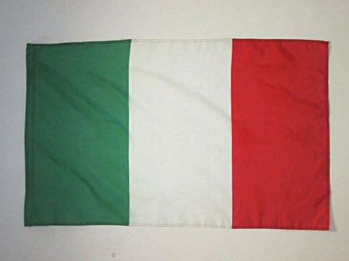 AZ FLAG Drapeau Italie 90x60cm - Drapeau Italien 60 x 90 cm Fourreau pour hampe