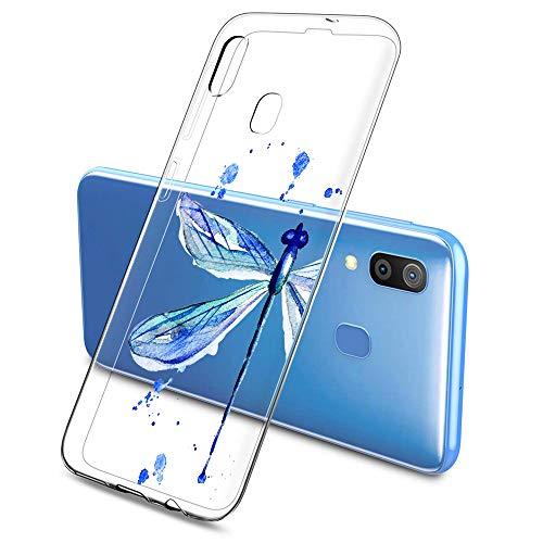 Funda Transparente Compatible para Samsung Galaxy S10,Carcasa Suave Silicona TPU Gel Dibujos Animal Ultra Fina Anti Choques y Anti Arañazos Clear Bumper Case Cover para Samsung Galaxy S10,A18
