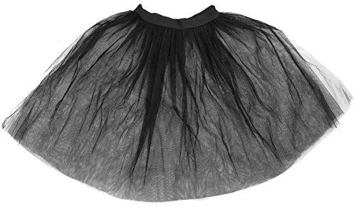 0203PMR0SWY ILOVEFANCYDRESS - Tut largo para mujer, de malla de tul de 66 cm, estilo Rock'n Roll de los aos 50.