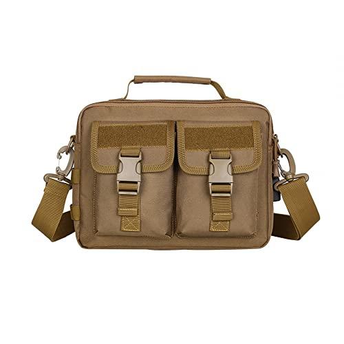 Bolso bandolera táctico, bolsa de mensajero superior Molle, bolsa de hombro militar impermeable con puerto USB para ordenador de aire completo para hombres