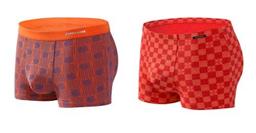 Sesto Senso Herren Boxershorts Microfaser mit Motiv 2er 4er Pack Micro Modal Bunte Unterhose (XL, 2 Pack 5/6)