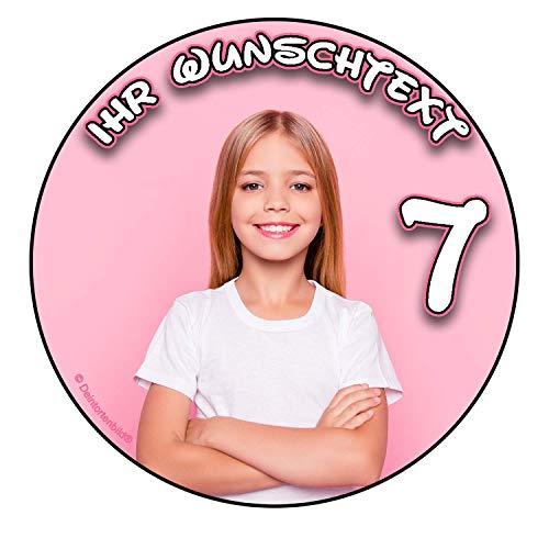 Essbare Tortenaufleger mit Wunschfoto und Wunschtext selbst gestalten zum Geburtstag - Taufe uvm. Kinderleicht (OBLATENPAPIER, Ø20CM)