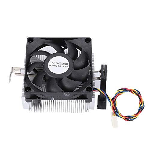 Annadue CPU Kühler, Schwarz Hervorragender CPU Lüfter mit Wärmeableitung, geräuscharmer CPU Kühler mit Großem Luftvolumen, für AM2 AM3 AM3 + FM1 FM2 FM2 +