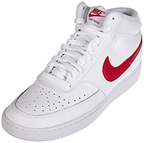 Nike Herren Court Vision MID Basketballschuh, Bianco, 43 EU