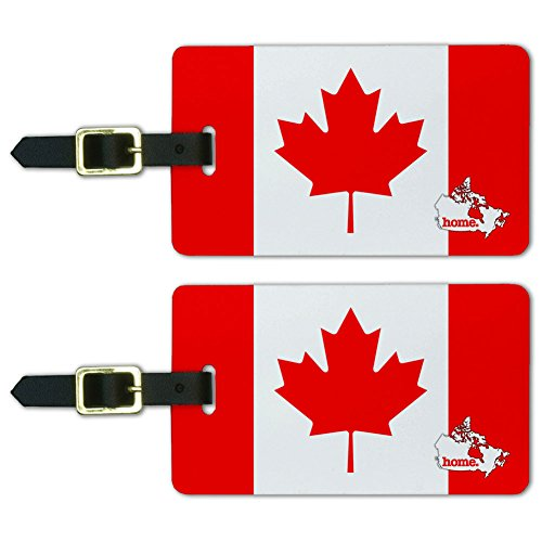 Graphics & More Canada Home Country Luggage Suitcase Id Tags-Flag, White