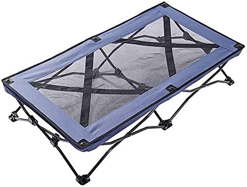 NYZXH Cama Plegable elevada Grande para Mascotas Cuna Plegable Viaje portátil portátil de enfriamiento de la Malla para Dormir Cuna para Dormir al Aire Libre Cuna para Dormir (Color: Negro)