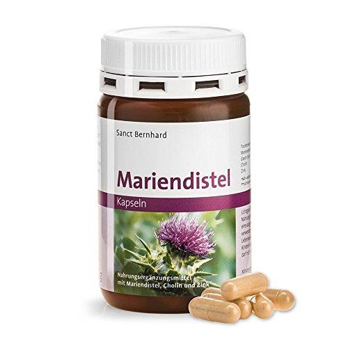 Mariendistel-Kapseln mit 200 mg Mariendistel-Trockenextrakt (mind. 70% Silymarin) je Kapsel, mit Cholin und Zink - Inhalt 90 Kapseln für 3 Monate