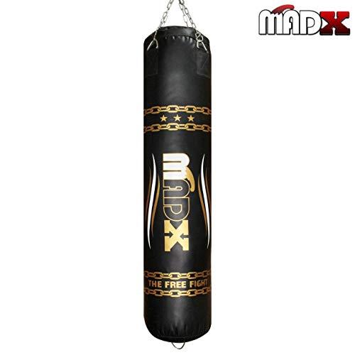 MADX–Saco de oro/negro saco de boxeo + cadena