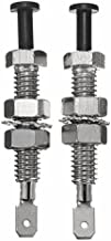 Winnerbe 2Pcs Adjustable Car Truck Bonnet Alarm Light Hood Door Pin Switch 69mm Universal