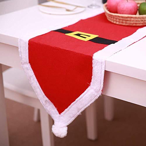 znwiem Natale Tavolo da Pranzo Runner Panno Bandiera da Tavolo Natale Festa Matrimonio Venue Banchetto Arredo Casa - Rosso, 180x35cm
