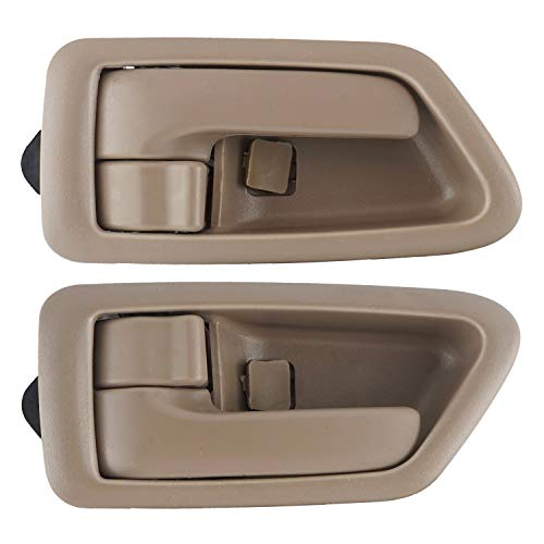 NPAUTO Inside Interior Door Handles Pair Front Rear Driver Passenger Side Replacement for 1997 1998 1999 2000 2001 Toyota Camry Beige/Tan