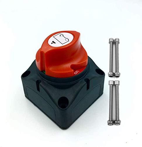 NSTART Interruptor de Desconexión del Aislador de la Batería,Interruptor Aislamiento de Batería de Corte de Energía 12V 24V 48V Batería Cut Off Interruptor para Coche Marine Barco RV Vehículos