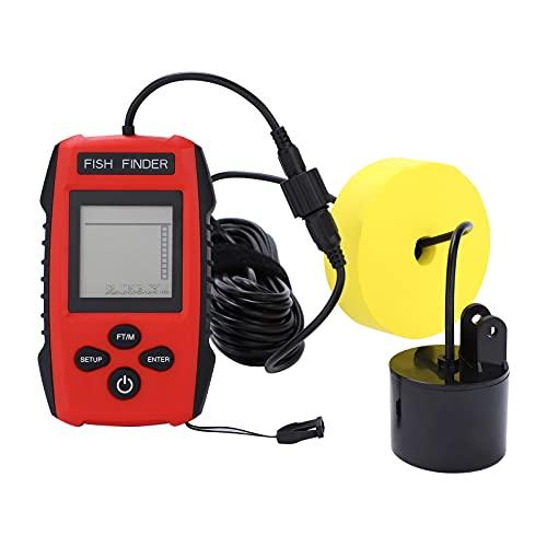 Emisor de pesca portátil con cable y sensor sonar y pantalla LCD para pesca en hielo en barco en río y mar
