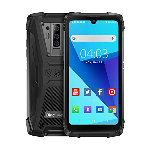 Blackview BV6900 (2020) Outdoor Smartphone ohne Vertrag - 5.84 Zoll FHD+ 16MP+8MP Quad-Kamera, 16MP Selfie-Frontkamera, 64GB ROM + 4GB RAM, Helio P25 Octa-Core Dual-SIM 5580mAh Android 9.0 Handy
