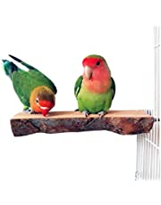 AM ANNA Bird Parrot Perch Natural Wood For Bird Cage Wooden Hanging Perch Toy for Small Parakeets Cockatiels, Conures, Macaws, Parrots, Love Birds, Finches