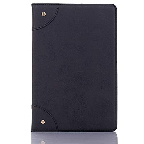 GLXC AYDD Retro Book Style Horizontal Flip Leather Case for Galaxy Tab S5e 10.5 T720 / T725, with Holder & Card Slots & Wallet (Black) (Color : Black)
