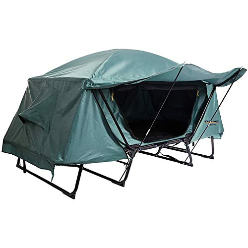 2-person Camping Tent, Outdoor Off-ground Tent With Porch, Easy To Install, Single-layer Waterproof Folding Bed Tent
