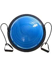Ner Balance Ball 60 cm Balance Trainer, halve bol, koepelbal, gewichtscapaciteit 300 kg balanstrainer, krachttraining, balans, halve yoga, balansballen, fitness oefening met pomp, blauw