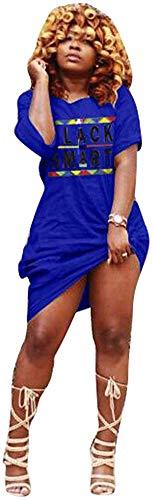 Miiyana Womens Off Shoulder Letter Print T Shirt Dress Summer Short Sleeve Tunic Dress