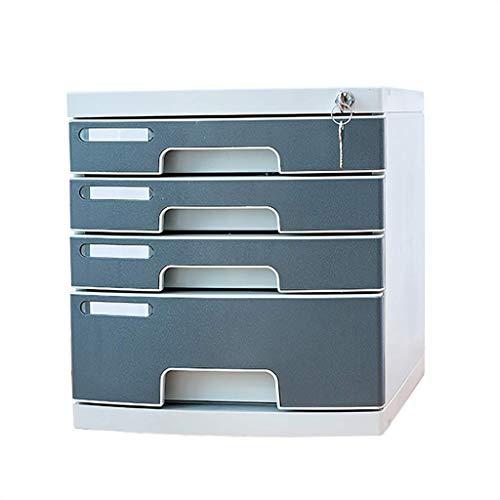 KANJJ-YU Periódico Bastidores cajón clasificador, el gabinete de datos, caja de archivo de tipo cajón, periódico Bastidores, cinco capas con cerradura.Cuatro pisos archivador, caja de escritorio, mueb
