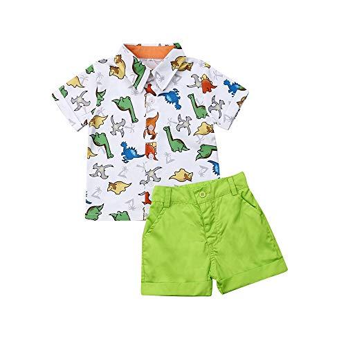 Baby Jungen Kurzarm Hemd + Kurze Hosen Set Gentleman Suit Anzug T-Shirt Shorts Taufe Festlich Hochzeit Outfit 1-6 Jahre Junge Kinder Sommer Bekleidung Set