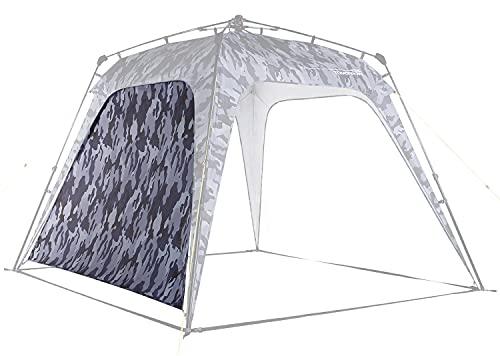 Lumaland Outdoor Seitenteil für Pop Up Pavillon Seitenwand für Gartenzelt Camping Partyzelt Zelt Camouflage-Grau