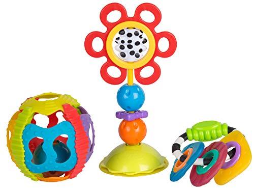 Playgro Spiel- und Rassel-Geschenkset, 3-teilig, Ab 6 Monaten, BPA-Frei, 40177