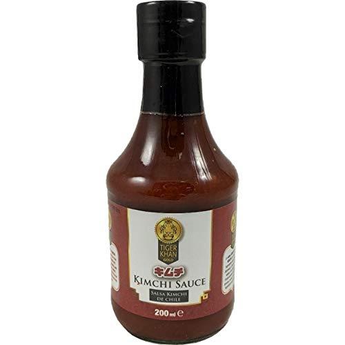 Tiger Khan - Salsa di Kimchi al peperoncino - Salsa calda coreano-giapponese - Ideale per dare ai vostri pasti un sapore speciale - 200 Ml