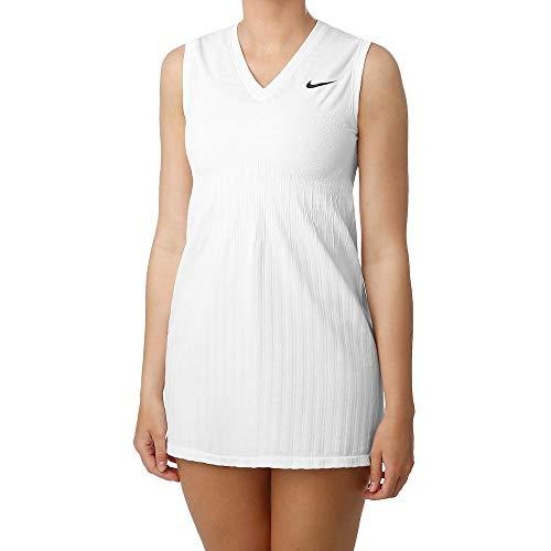Nike Damen Maria W Nkct Dress Ln Kleid, Weiß/Schwarz, S